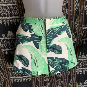 Juicy Couture Chino Shorts w/ Palm Fronds Size 10